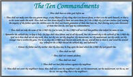 Blue Ten Commandments PostCard