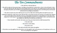 White Ten Commandments PostCard